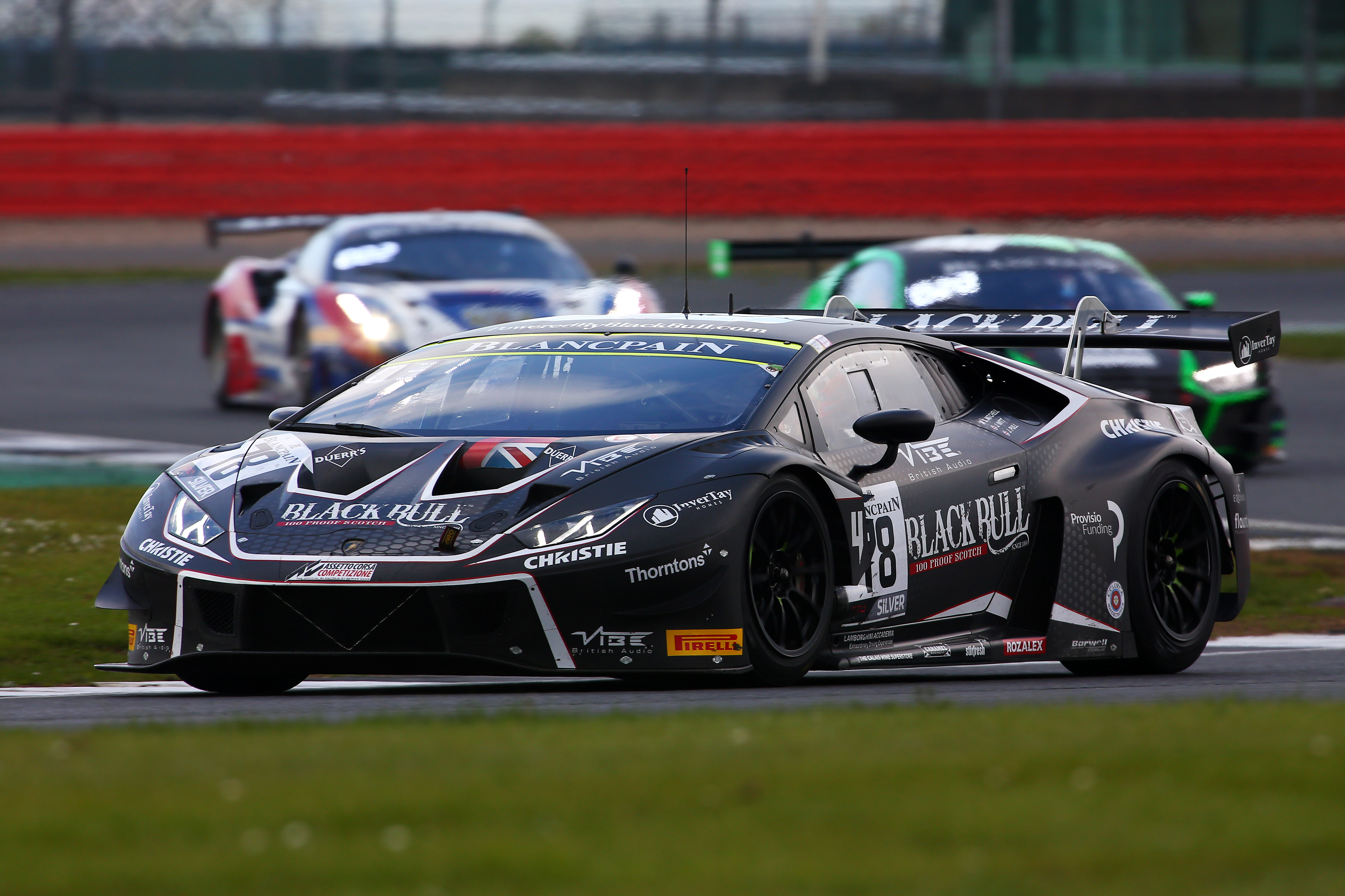 Sandy Mitchell in Blancpain GT action.