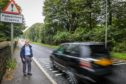 Glenrothes resident Gordon Clatto,78,beside the A92 where BEAR Scotland have agreed to remove the noisy rumble strips.