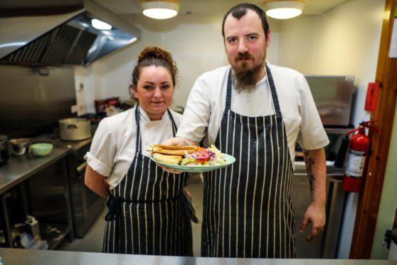 Balbirnie Hotel chefs Andrew MacLeod and Linda Hutchison.