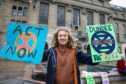 Protester Josephine Becker at Extinction Rebellion protest in September