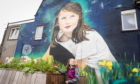 Lucie Anderson is the inspiration for a larger than life mural in Cowdenbeath.
