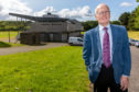 Councillor Ross Vettraino outside Warout Stadium in Glenrothes which will close next month.