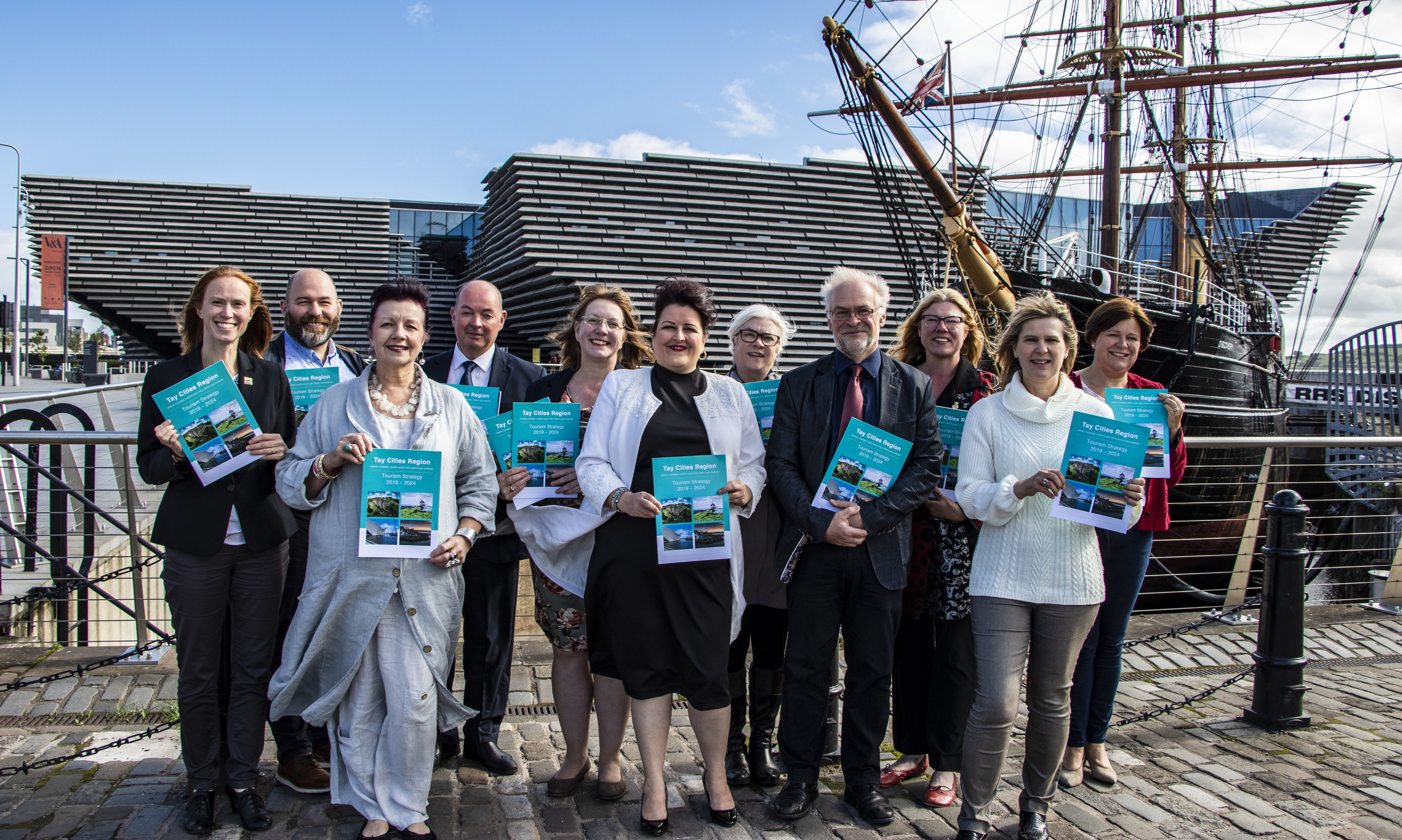 Tourism representatives launching the new strategy.
