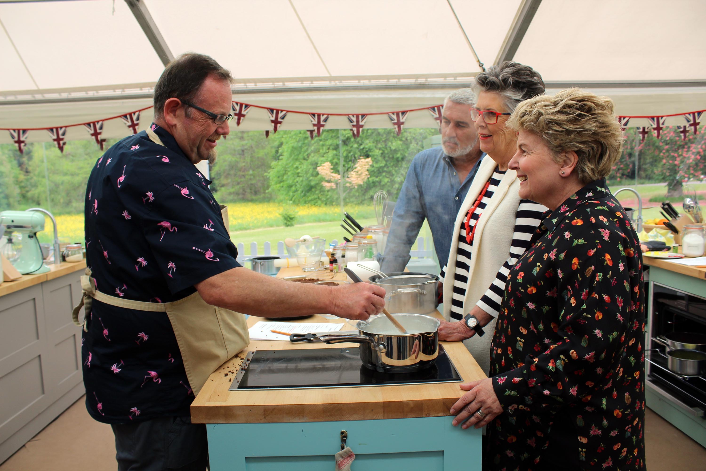 Phil failed to impress judges Pru Hollywood and Pru Leith during dairy week with his Bundt cake and Indian milk dessert in the showstopper.
