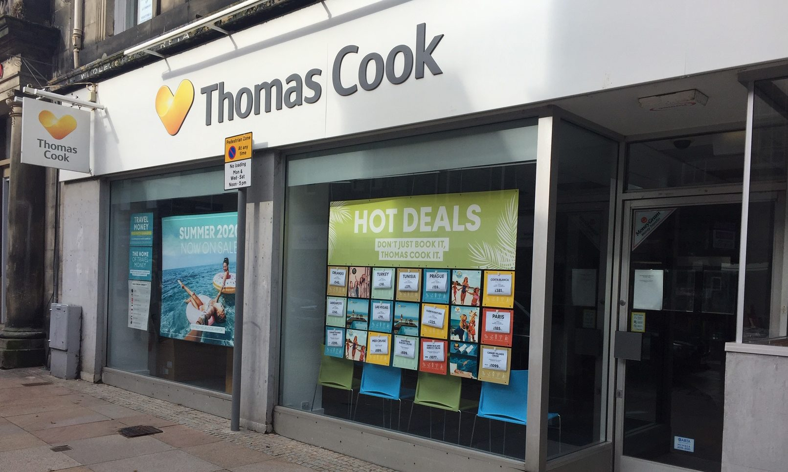 Thomas Cook branch in High Street, Kirkcaldy.
