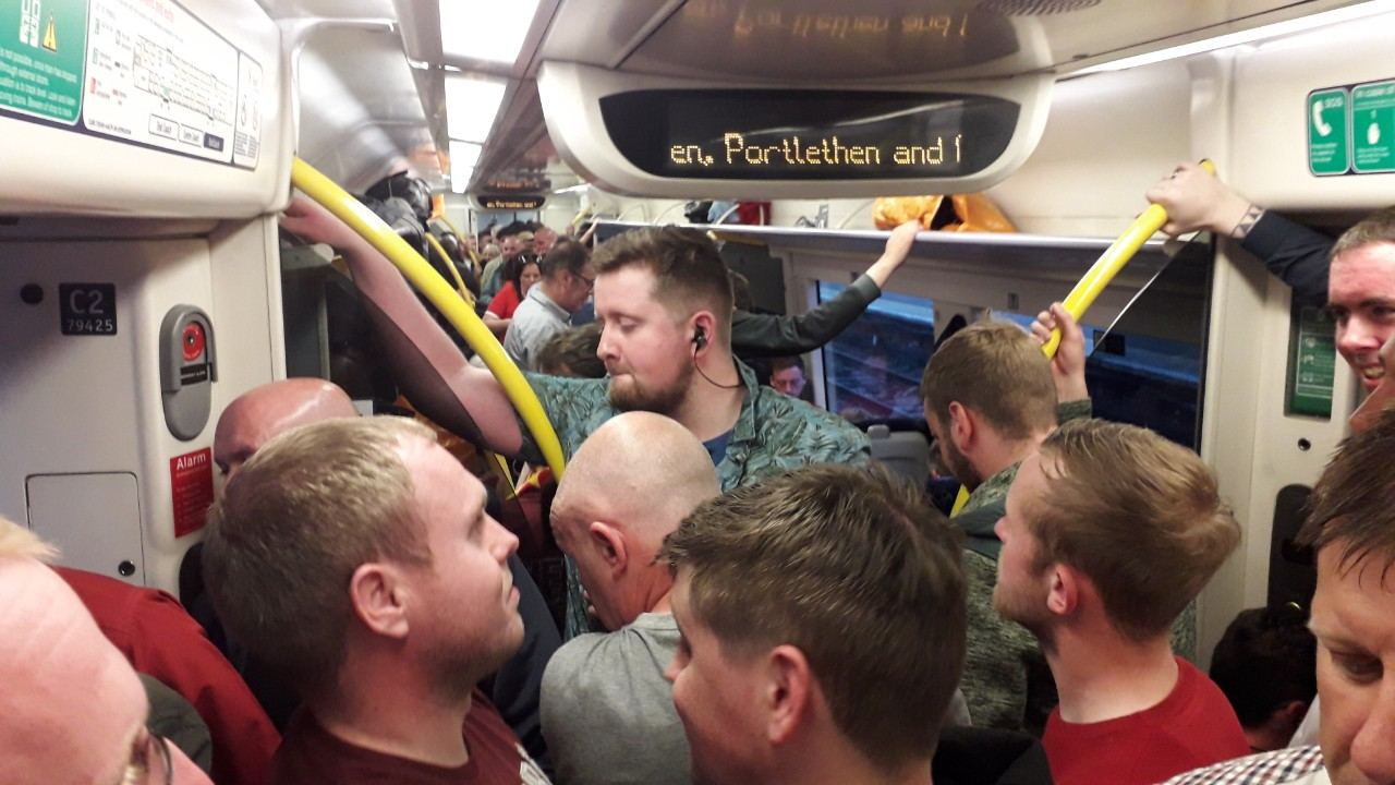 Passengers have complained of over-crowding on the north-east line during major events in the summer.