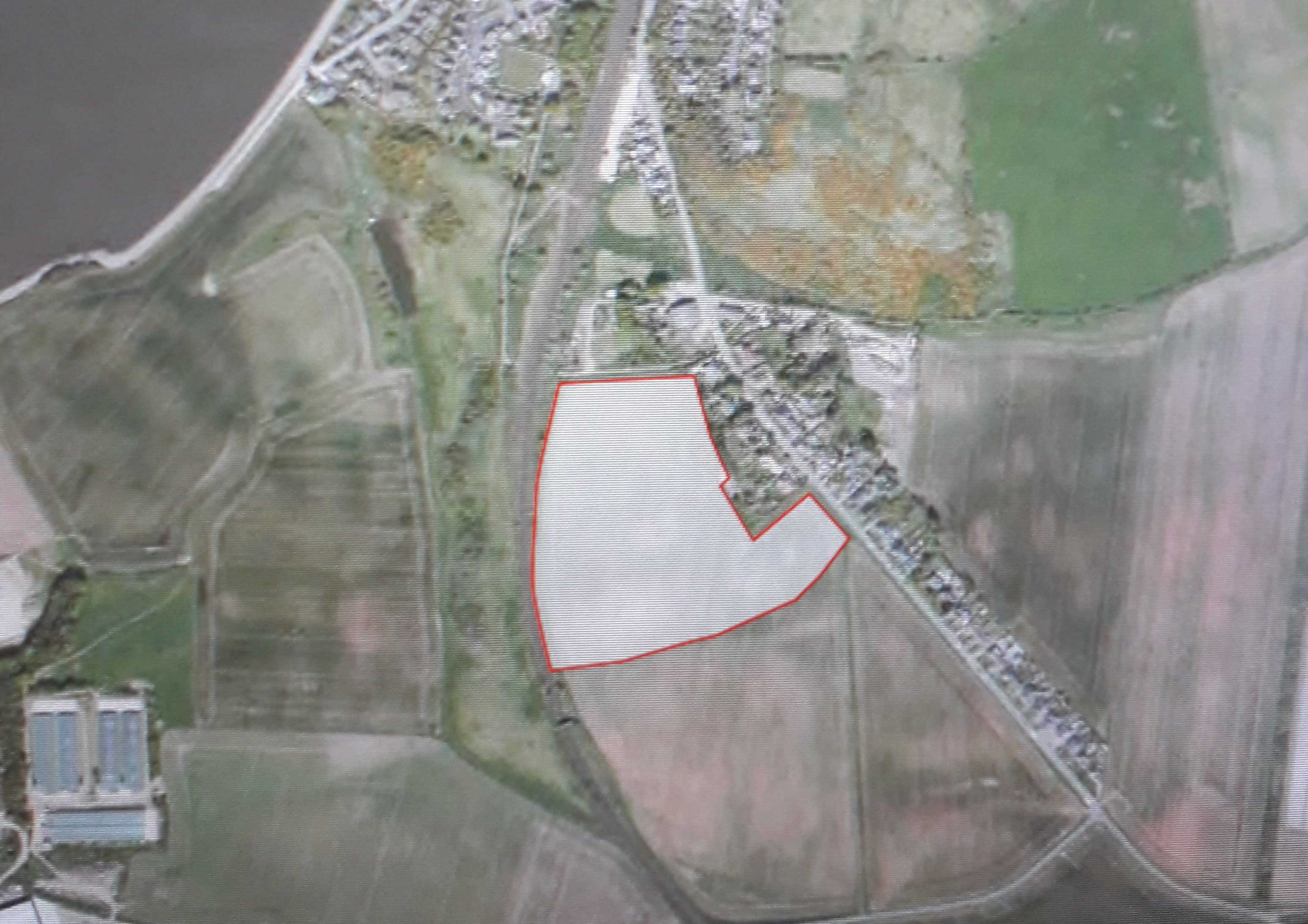 The proposed site of the development in Wormit.