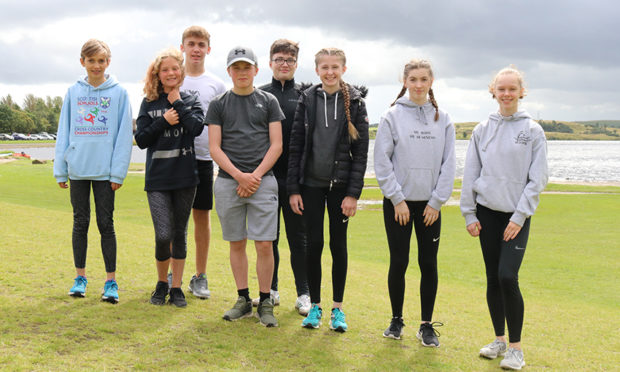Left to right: Isla Hedley (Athletics/Triathlon), Ruby MacDonald (Athletics/Swimming), Matthew Pirie (Tennis), Cameron Wilkie (Ice Hockey), Ben Creanor (Motor Racing), Amy Mcnair (Tae Kwon Do), Hannah Fielding (Fencing), Skye Jolly (Kuk Sool Won).