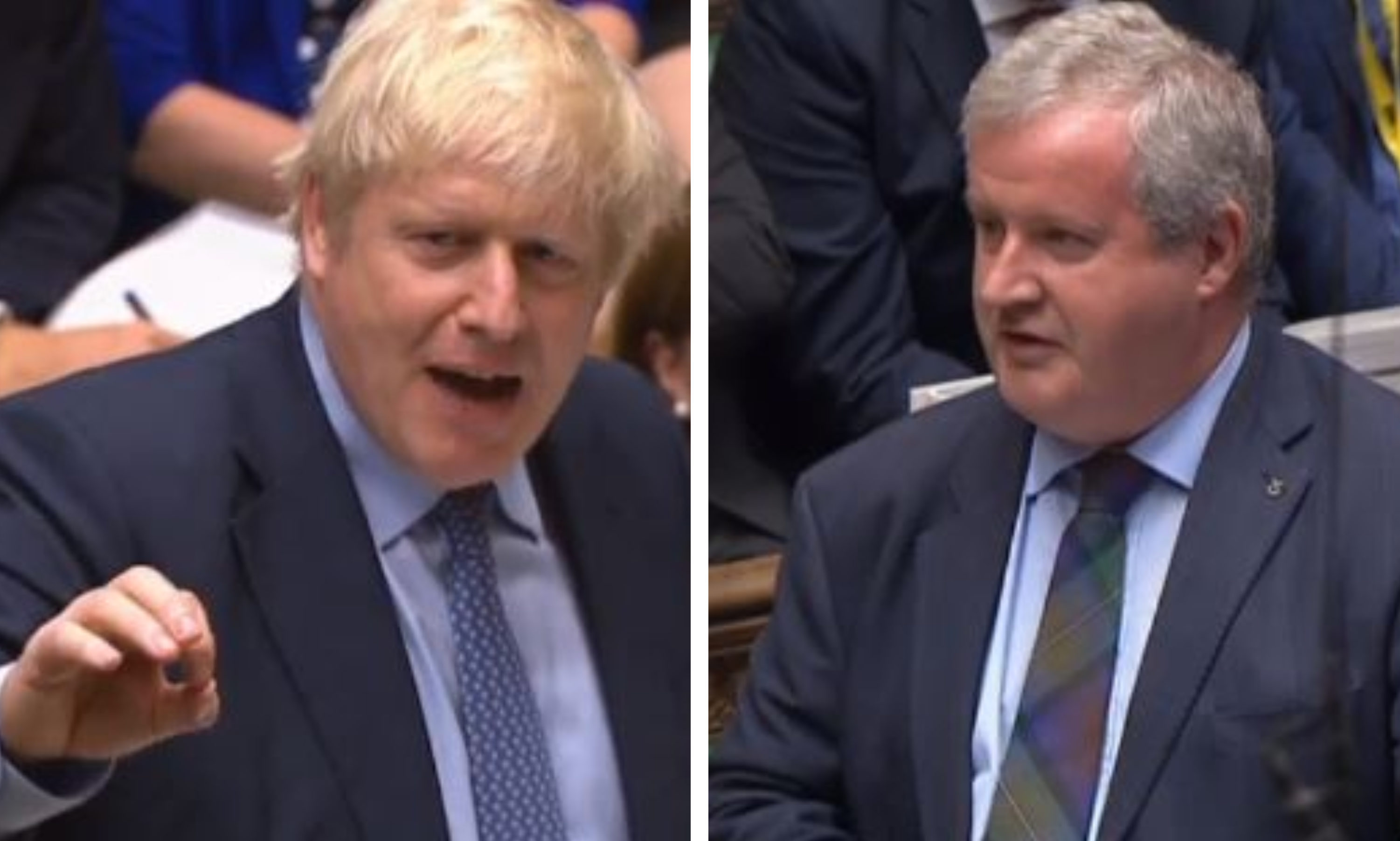 Boris Johnson and Ian Blackford clashed in the House of Commons.