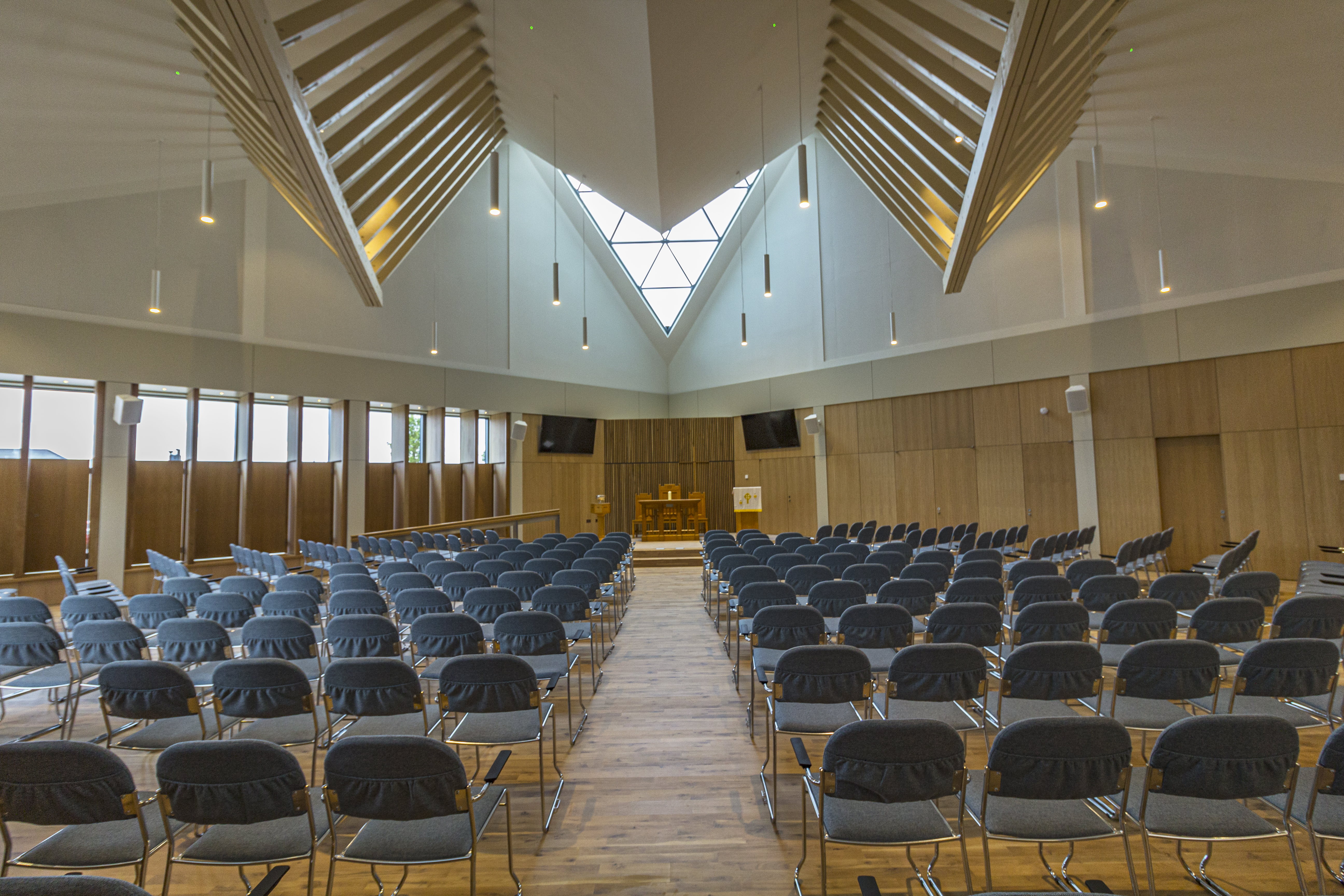 The interior of the new Monifieth Parish Church.