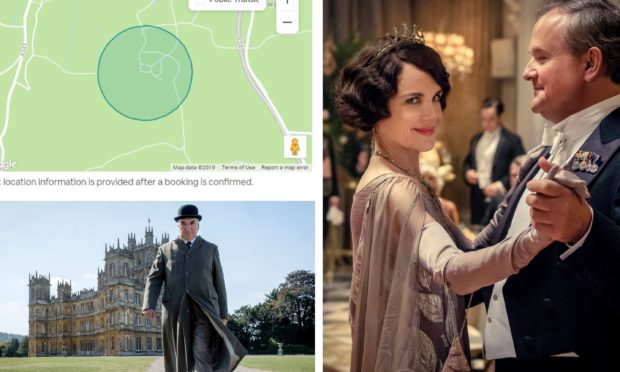 The castle which doubles as Downtown Abbey has been listed on Airbnb.