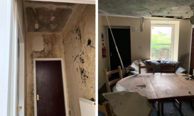 """The property was wrecked following a """"major leak""""."""