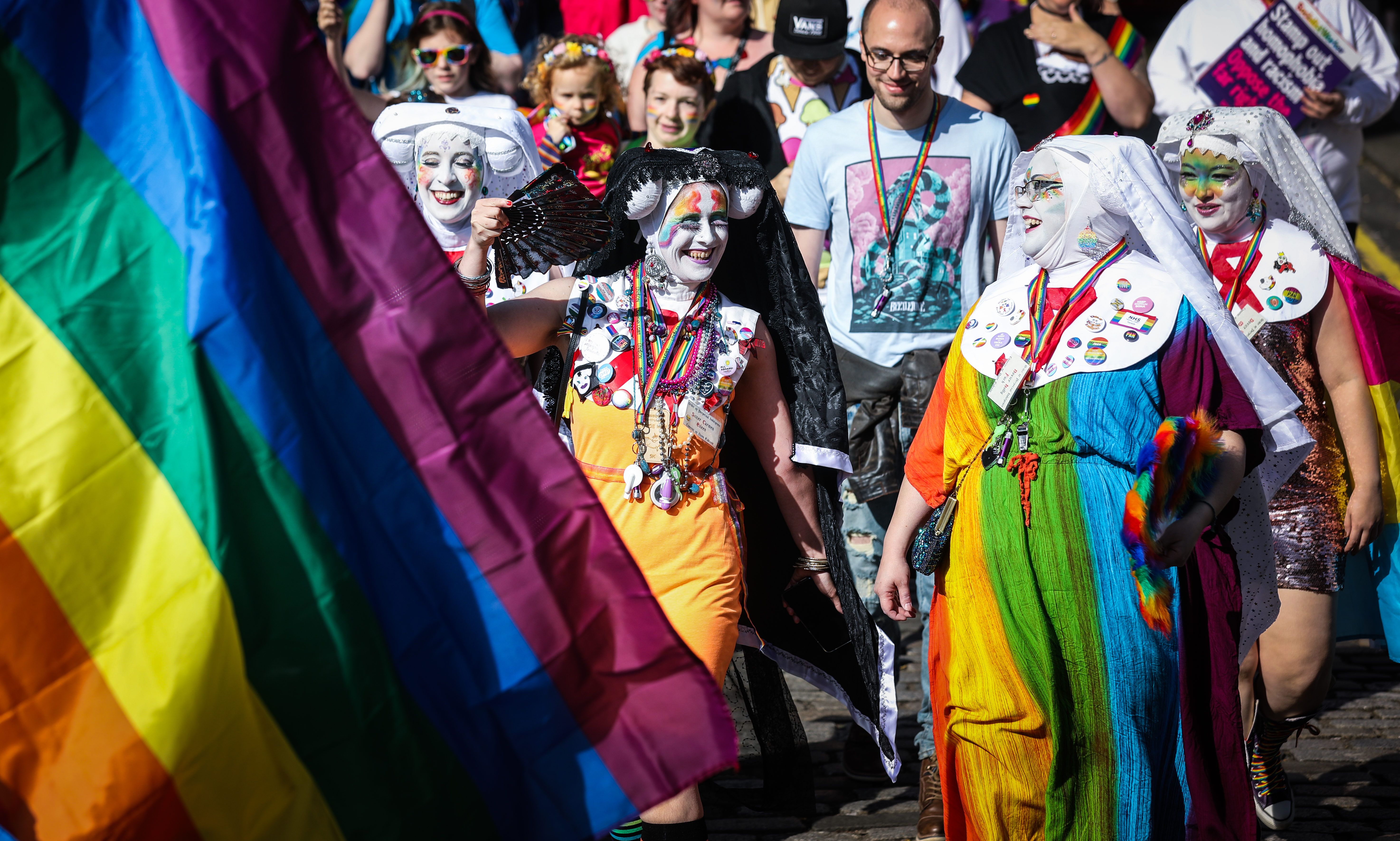 Crowds at Dundee Pride 2019.