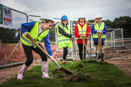 The ground was broken at the new site in September