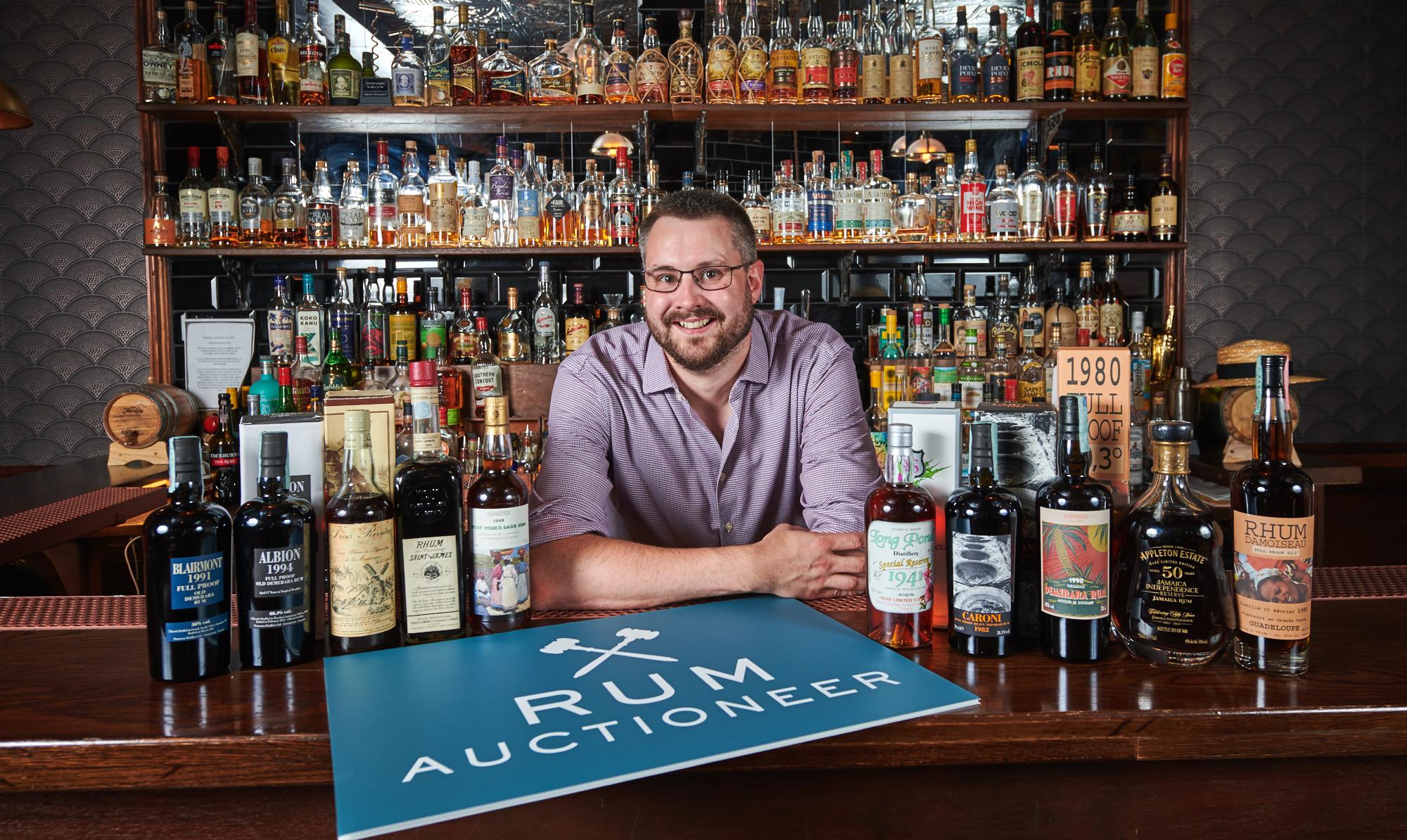 Rum Auctioneer, managing director Iain McClune