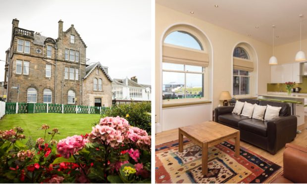 The flat at 24 Golf Place in St Andrews.