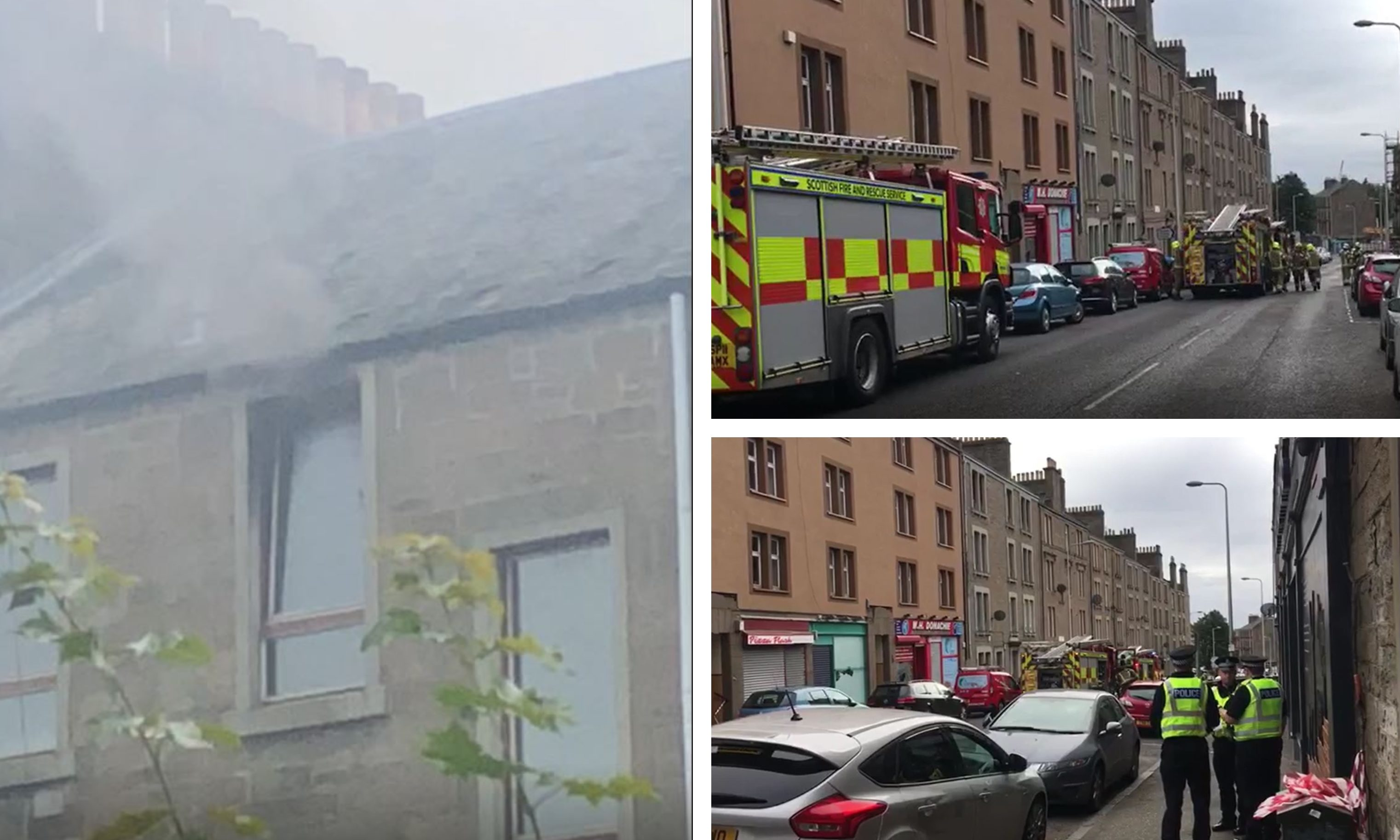 The fire on Strathmartine Road.