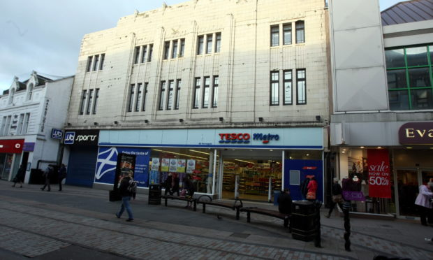 Tesco Metro on the Murraygate, Dundee.