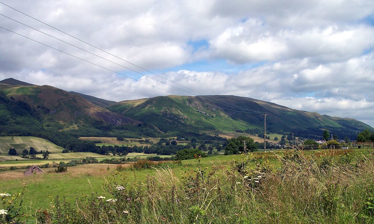 Several Perthshire settlements are nestled amongst the Ochil Hills.