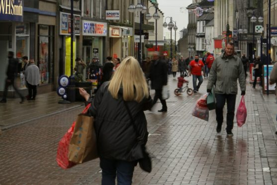 Dunfermline High Street in busier times. Street access shops will start to open from Monday.