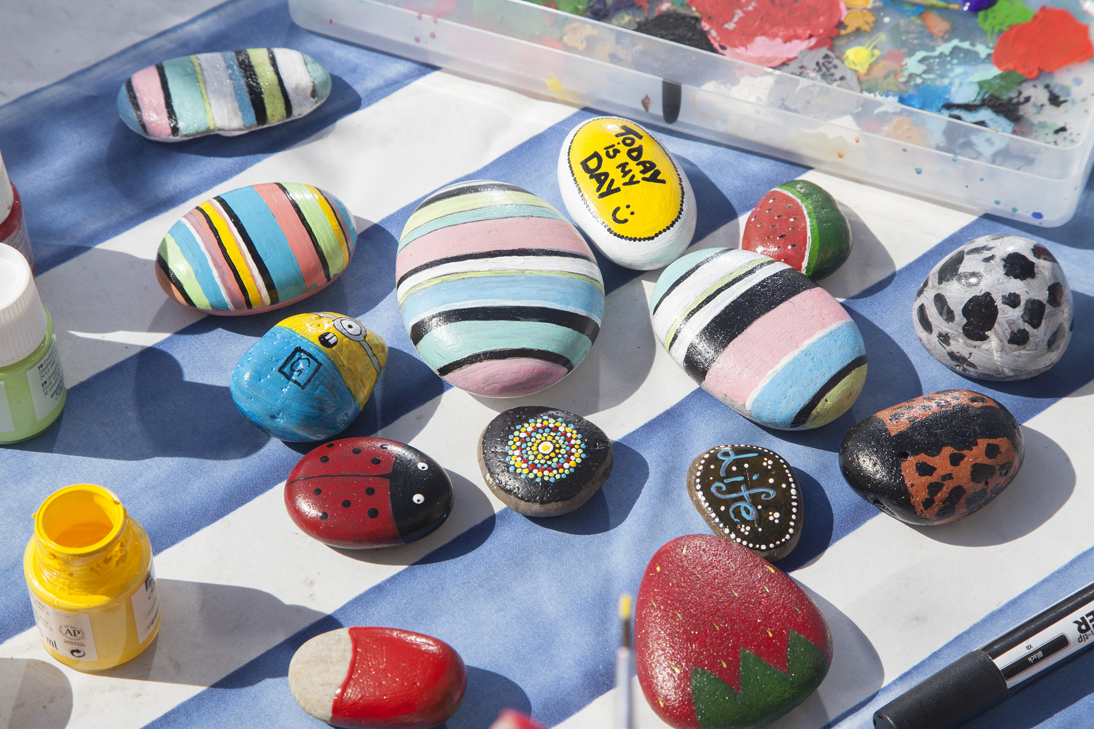 Rock painting is a popular pastime for people across Scotland.
