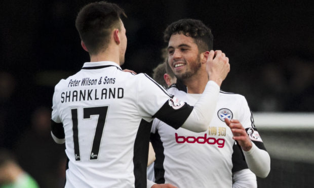 Lawrence Shankland and Declan McDaid when they were at Ayr.