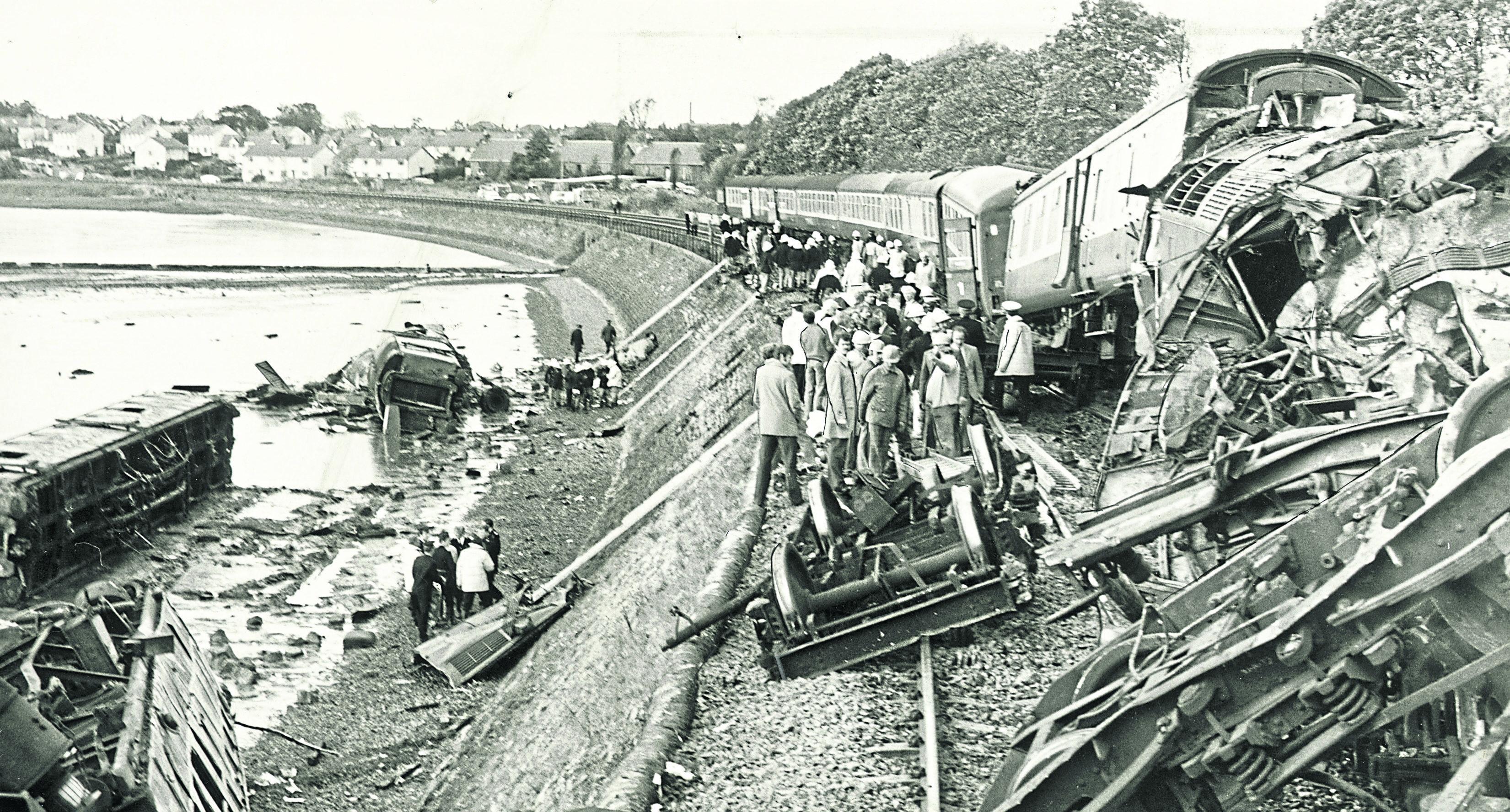 The Invergowrie train crash, 1979.
