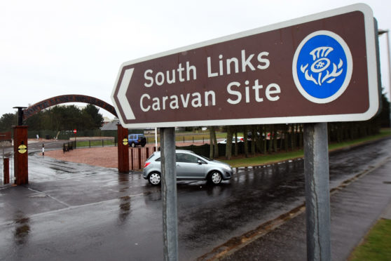 South Links caravan park.