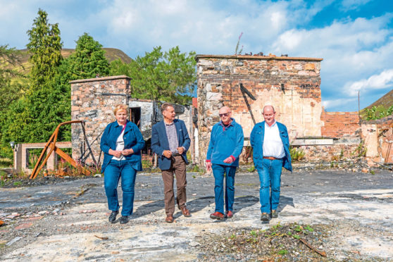 MSP Murdo Fraser, second from left, wants to see the decrepit ruins tidied up.