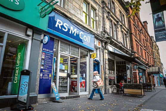 RS McColls newsagent on Perth High Street is up for sale.