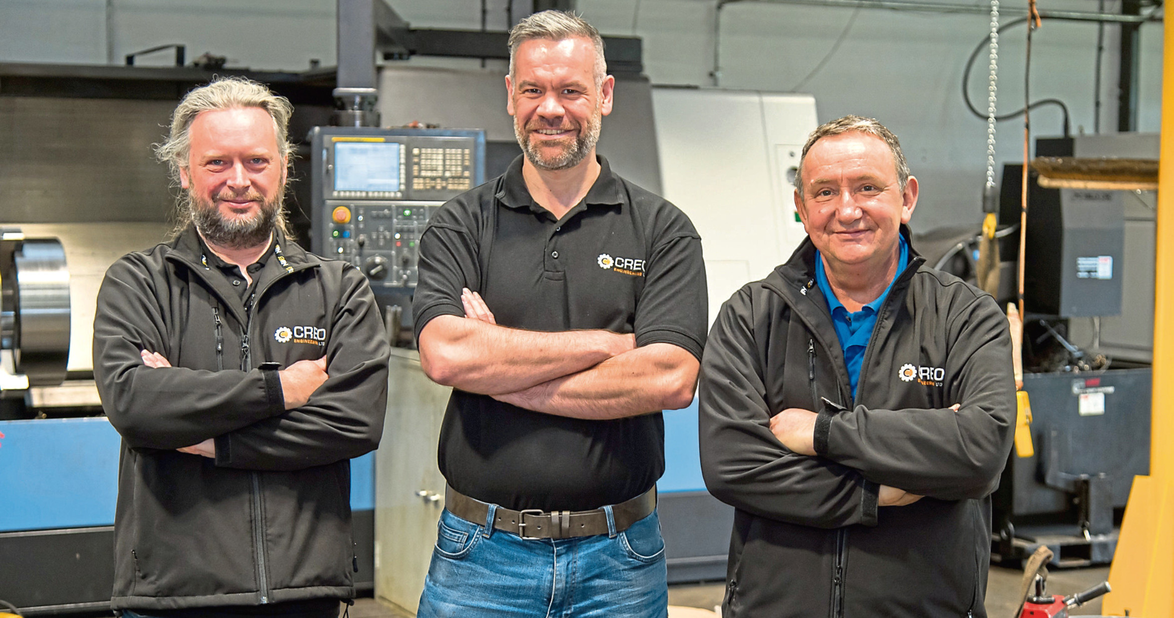 Three of the founders of Creo Engineering in Fife. l-r Brian Menagh, Iain Bickett, Graham Dudgeon.