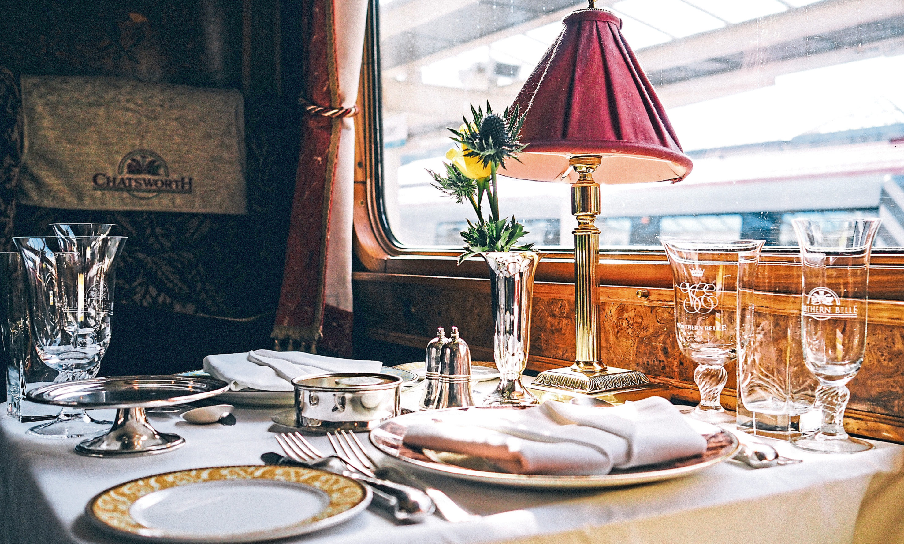 A gourmet dining experience awaits on the Northern Belle.