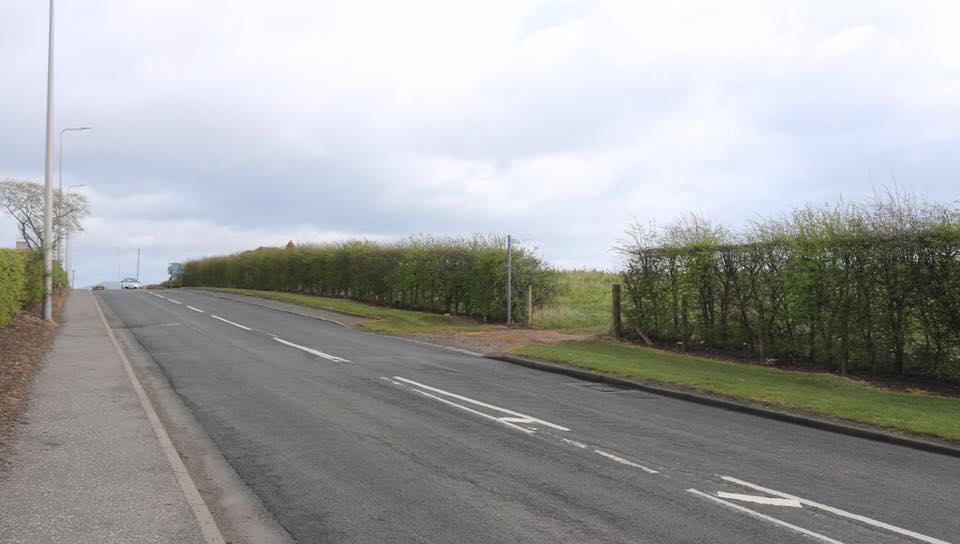 The stretch of the A955 where the man collapsed.