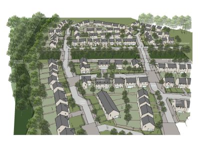 Graphic of the proposed housing.