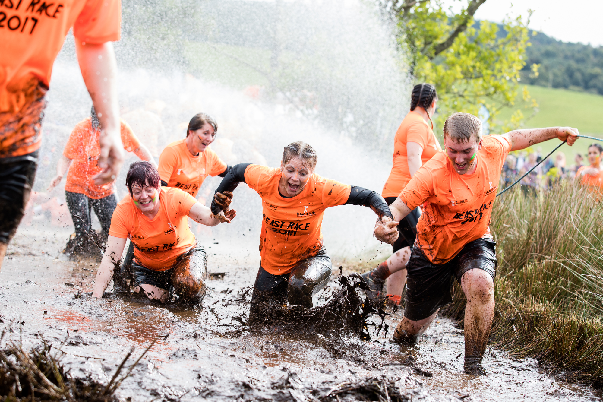 People tackling the Prime Four Beast Race  at Loch Ness - and it was due to be coming to Fife.