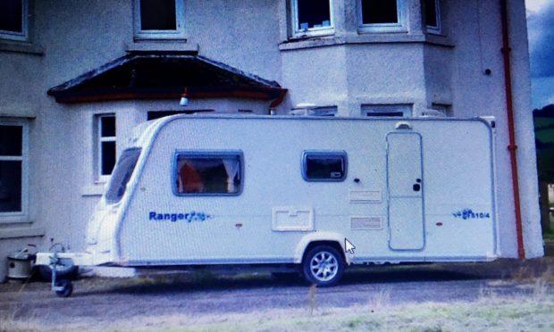 The caravan stolen from an address in Rait