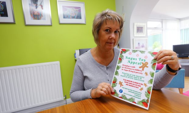 Sharon Spink, chairwoman of the Angus Toy Appeal.