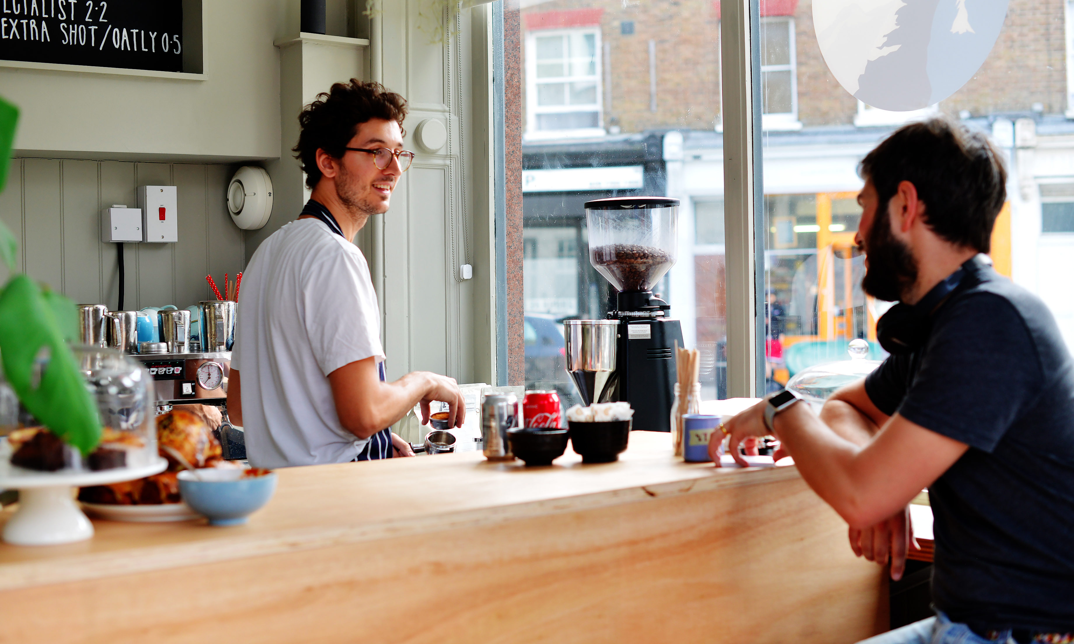 Brodie Williams has opened a cafe in London