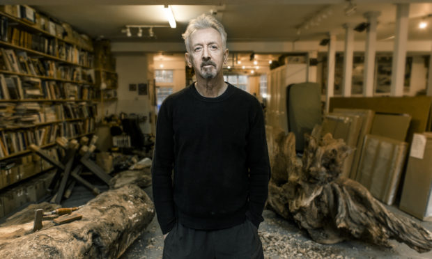 David Mach, artist, seen here in his London studio.