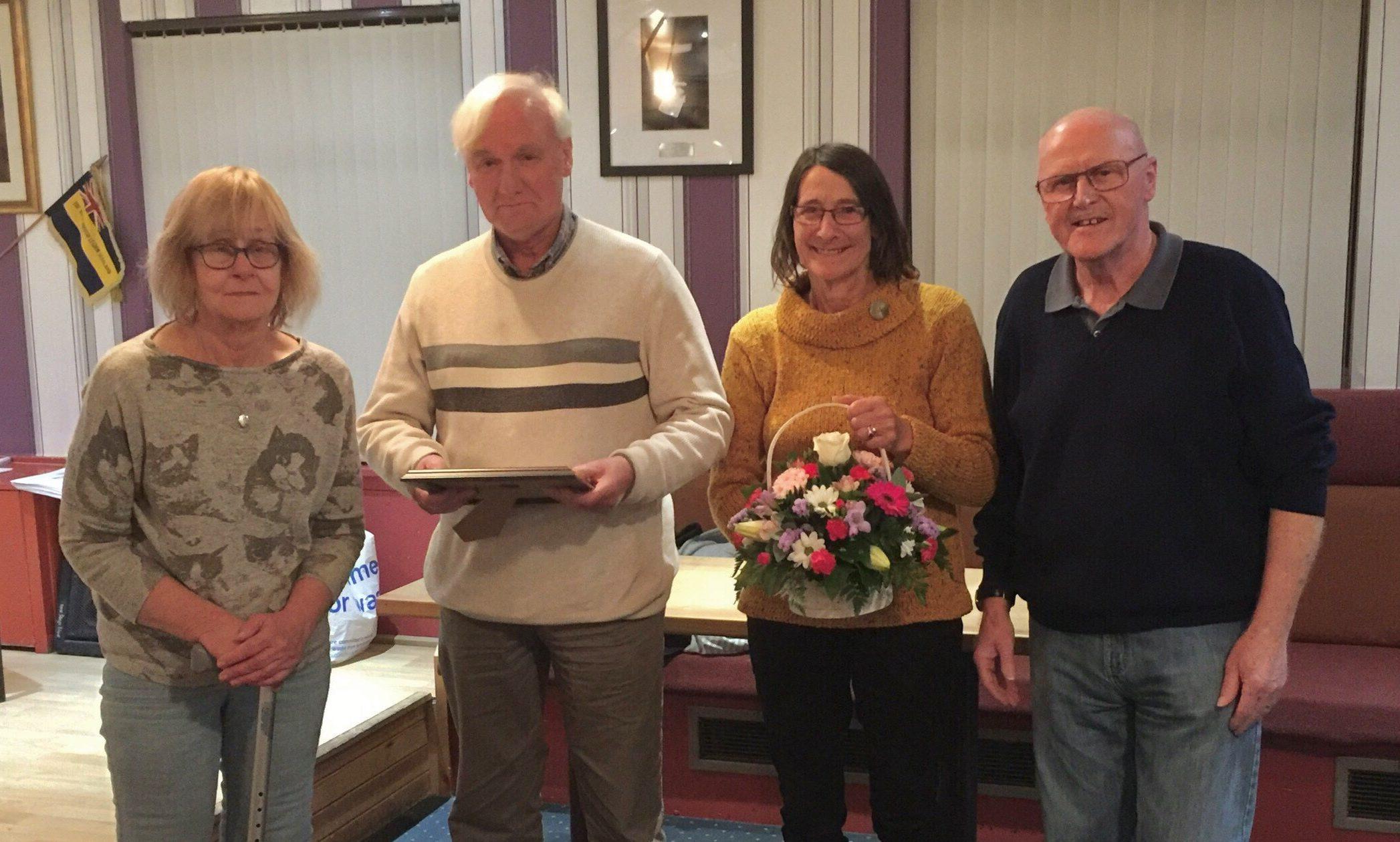 From left, Dorothy Robertson, Ian Mackay, Wilma Mackay and Brian Robson.