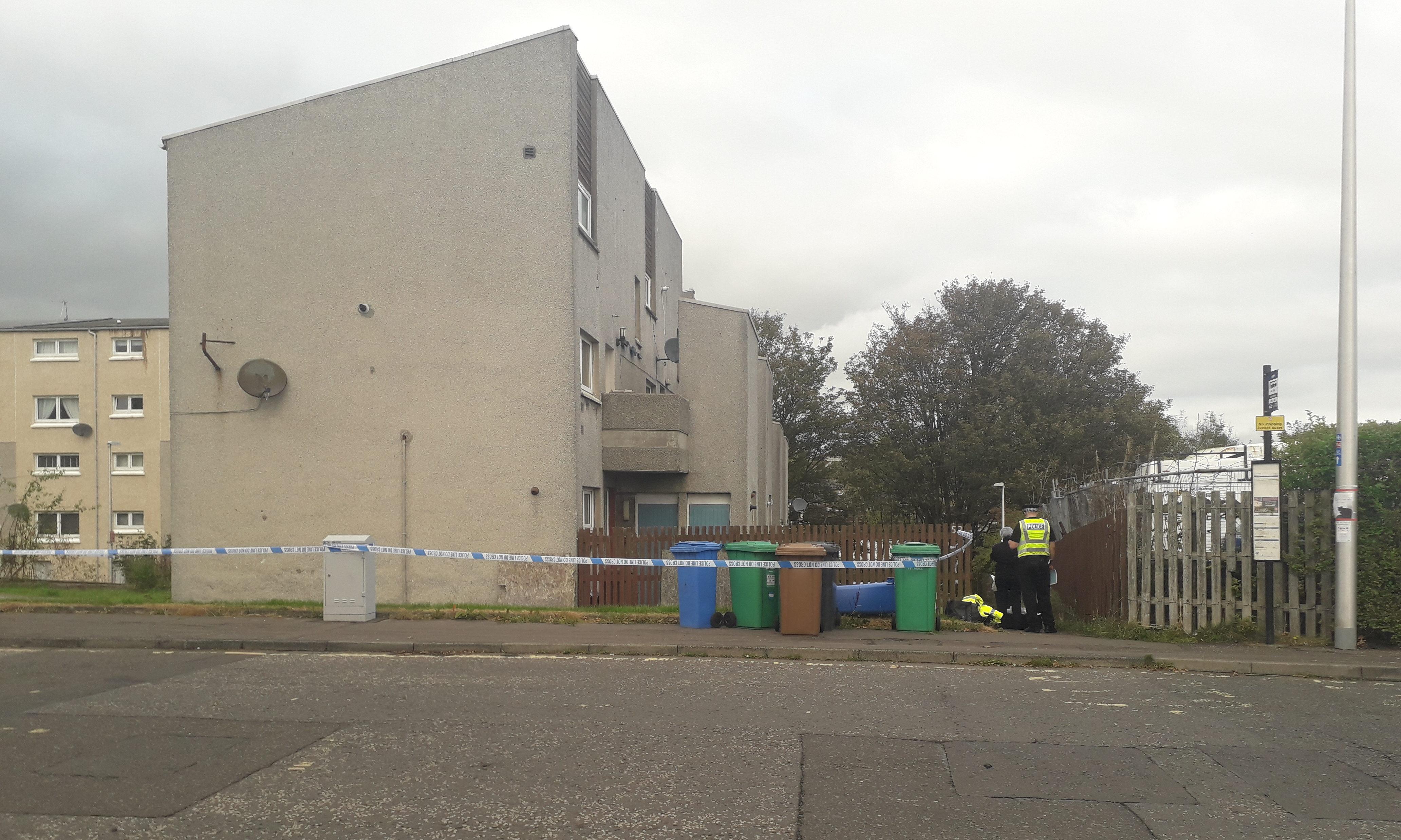 Detectives at Golfdrum Street, Dunfermline.