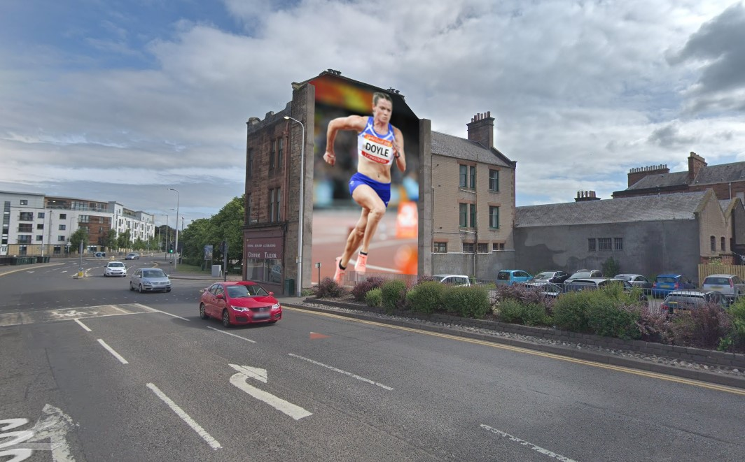 The proposed Eilidh Doyle mural in Perth city centre.