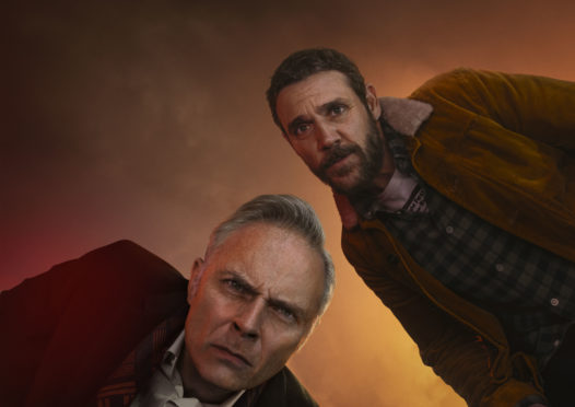Mark Bonnar and Jamie Sives in Guilt.