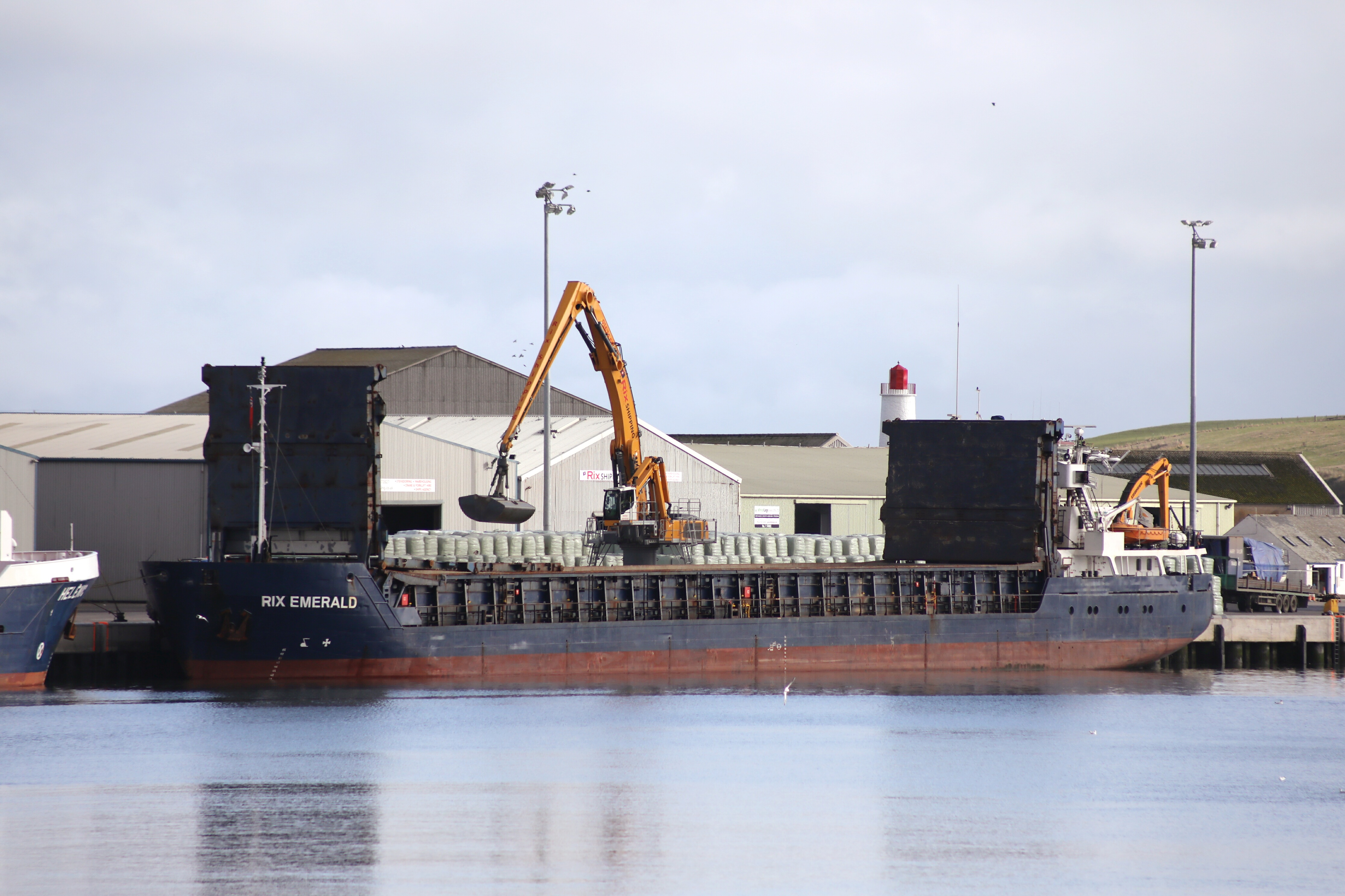 The Rix Emerald berthed at Montrose Harbour.