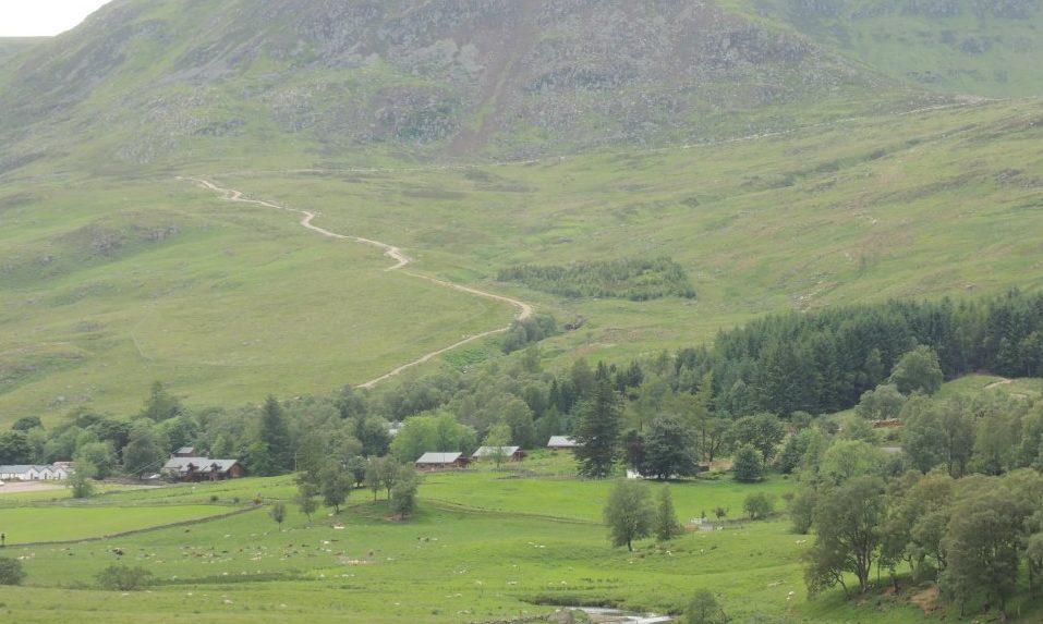 The hill track in Glen Clova, Angus.