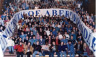 Students celebrate the opening of the University of Abertay in Dundee in 1994.