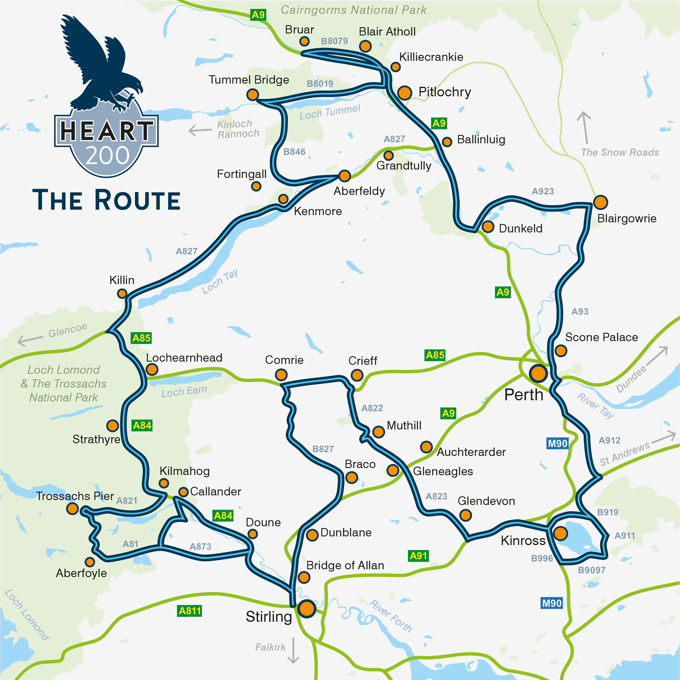 The Heart 200 trail extends around Perthshire.