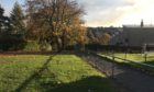 The footpath in Letham where the alleged robbery took place.