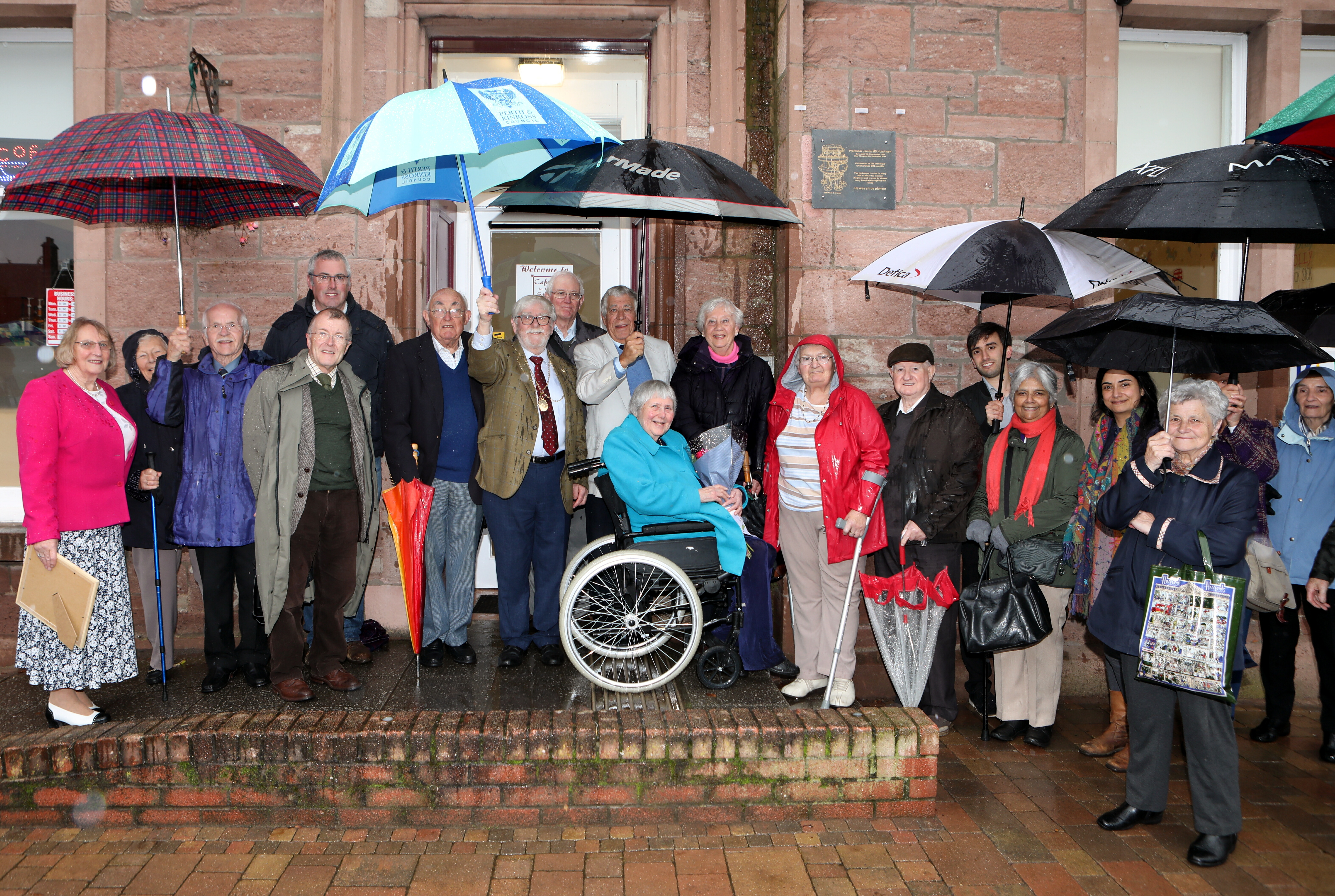 The unveiling of the Dr James Hutchison in Alyth