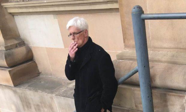 James Smith outside court.